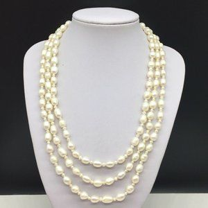 Genuine Cultured Freshwater Pearl Beaded Necklace